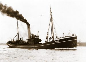 Dane H 227 was one of a new class of 140ft trawlers built in this period for Hull trawler owner Hellyer's.