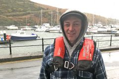 Gordon Mills, skipper of the Polaris, was thankfully wearing a PFD when his boat sank in November.