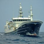 … after towing in the North Atlantic west of Ireland.