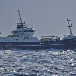The Killybegs vessel Veronica (ex Ocean Quest FR 77) running off from Killybegs to fish.