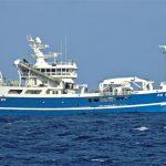 The Peterhead pelagic vessel Pathway preparing to pump a haul of blue whiting aboard.