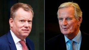 Lead UK negotiator David Frost and his EU counterpart Michel Barnier.