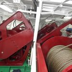 Three split trawl winches are housed in a dedicated compartment forward on the main deck…