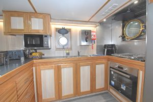 A spacious galley is situated aft of the messdeck on the starboard side of the deck casing.