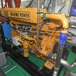 A Caterpillar C12 variable-speed auxiliary engine drives Crystal Sea's main hydraulic system…
