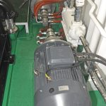 Two 45kW electric-drive pumps provide a full net-retrieve system.
