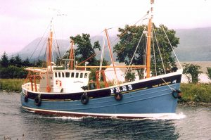 David and Alec Stevens' grandfather Ernest Stevens took delivery of the 66ft trawler/longliner Rose of Sharon from Forbes of Sandhaven in 1969.