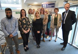 The team at the Fishermen's Mission HQ in Whitley, Hampshire.