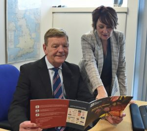 David Dickens CBE RN, chief executive of the Fishermen's Mission, with Ali Godfrey, director of business development.