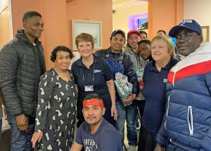 Christmas celebrations at the Troon Mission centre for visiting fishermen and those with no family connections.
