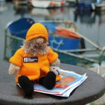 Fishermen's Mission mascot Little Albert visits Plymouth to help raise funds.