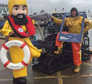 National Fish and Chip Day is a very popular Mission fundraising event, when Albert meets his supporters around the UK.