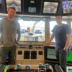 Alcedo skippers Jamie Clarke (right) and Scott Bremner.