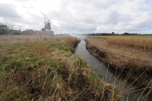 The Glaven coming down from Cley. You probably wouldn't get a 100-tonner up there these days.