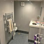 The main shower and washroom.