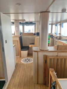 General view looking forward in the wheelhouse…
