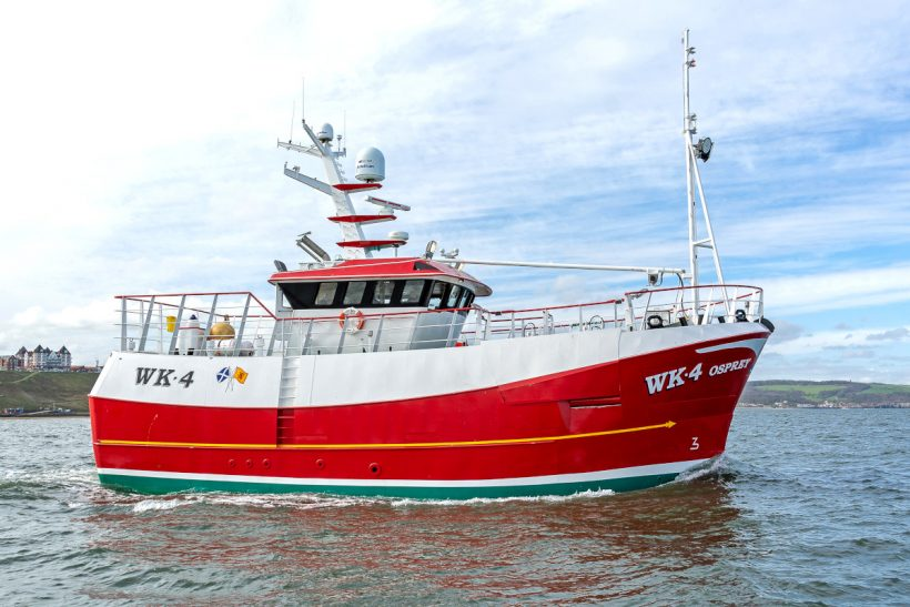 OSPREY WK 4 – Holborn Fishing Company takes delivery of 19m vivier-crabber from Parkol Marine Engineering