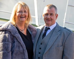 Diane and Andrew Watt of the family-based Holborn Fishing Company at Osprey's naming ceremony on 6 March.