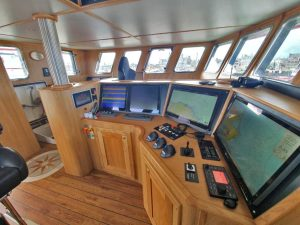 Osprey's wheelhouse electronics were supplied by McMinn Marine of Fraserburgh.