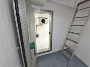 The port side bait freezer room…