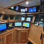 Supplied by McMinn Marine, the wheelhouse electronics equipment…
