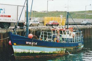 Faith Ann (ex George William C J 556) landing brown crab at Scrabster.