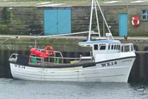 The first Osprey was a Kingfisher 33 vivier-crabber built at Macduff by Seaway Marine.