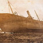 … and grounded on a reef at an unknown location, in her minesweeping role, after a terrible storm on the night of 4 or 5 February, 1915. She was refloated, continued fishing after the war, and was sold to Fleetwood owners in 1937. She was scrapped in 1956.