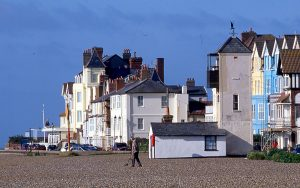 The lookout, on the right, of Aldeburgh's Old Company, photographed in 2005. The town companies had a bit more general carrying work – and a bit more money.
