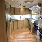 The well-equipped starboard galley.
