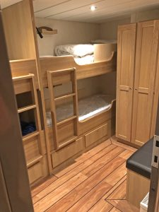 One of three four-berth cabins...