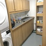 Laundry facilities are built into a general storage room on the main deck.