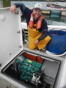 Daniel Gilbert is delighted with the new Volvo Penta engine. It is so quiet, he says, that he has to check the gauges to know whether it is switched on!