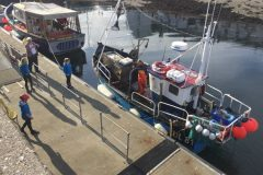 The Ullapool Sea Savers meet local prawn boat Freya UL 81…
