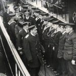 King George V and Queen Mary inspect a minesweeping crew during the First World War. (Photo courtesy My Learning)