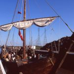 Boston first got rich in medieval times through the Hanseatic League, whose success was substantially based on its ships, specifically the cog – a replica of which visited Boston in 2004.