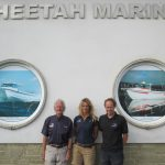 Keith, Lucy and Sean Strevens at Ventnor – Cheetah is still very much a family business, supported by dedicated staff.
