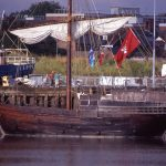 The cog – the replica is seen here at King's Lynn, another Hanse port, on the same trip – was bigger and stronger than other ships of the time…