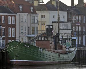 The main remnant of Yarmouth fishing is the Lydia Eve YH 89, the only surviving steam drifter – see lydiaevamincarlo.com