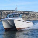 Robert Wallace's 9.98m x 3.7m Cheetah Piscatio on sea trials.