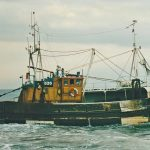 The traditionally side-trawl-rigged Jacqueline Louise WY 235 towing past Carol H. Jacqueline Louise was built by Nobles of Fraserburgh in 1978 as Lead Us Forth, later being renamed Scoresby.