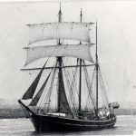 The Frida was the last sailing ship to leave Boston, in 1932. (Photo: Local Studies Collection, Boston Library, courtesy of Lincolnshire County Council, Education and Cultural Services Directorate)
