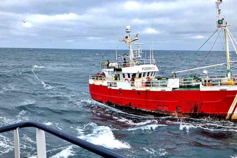 Gear war off Shetland