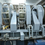 Luyt manufactured the 10-drum electric-drive trawl winch located beneath the wheelhouse. (Photo: Hanneke de Boer)