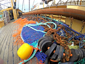 Brixham Trawl Makers supplied Georgina of Ladram's 12m chain mat trawls, and are now making the beamer's open gear.