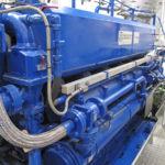 The ABC 6DZS main engine develops 736kW @ 810rpm.