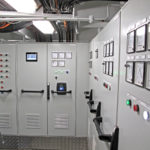 The electrical cabinets in Georgina of Ladram's immaculate engineroom.