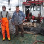 Ken Bagley and crewman Charlie Pagden.