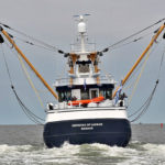 Stern view of Georgina of Ladram in the Wadden Sea. (Photo: Jan Koster)