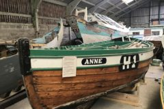 The 1977-built scaffie yawl Anne in Eyemouth ahead of her auction.